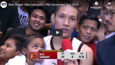 Photo of WATCH: Alex Cabagnot Highlights and Best Player of the Game interview