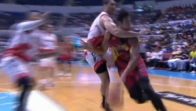 Photo of WATCH: FFP2 called on Dave Marcelo for 'hit' on Christian Standhardinger!