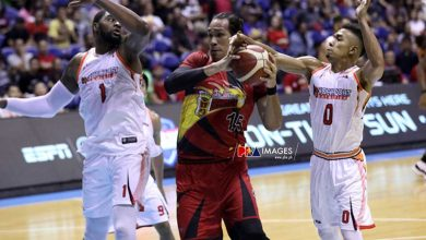 "Photo of June Mar Fajardo on SMB's 33-point loss to NorthPort: ""Galit sila coach at ang mga boss namin"""
