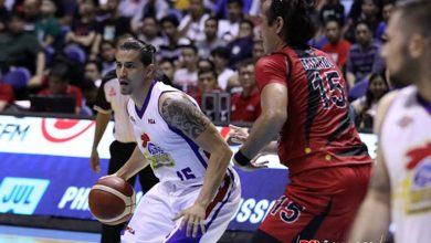 Photo of June Mar Fajardo happy to see 'DOTA buddy' Marc Pingris back in action, optimistic on SMB's playoff chances