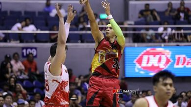 "Photo of Arwind Santos on facing Brgy. Ginebra in the playoffs: ""Sana sa Finals na"""
