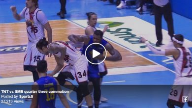 Photo of WATCH: Standhardinger elbows Jones, Taha comes to the rescue, Fajardo pushes him off!