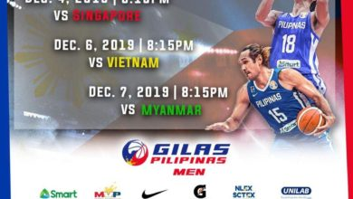 Photo of LOOK: Gilas Pilipinas Eliminations Schedule [2019 SEA Games]