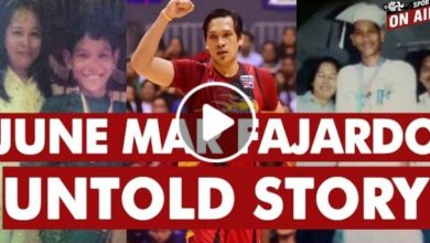 Photo of WATCH: The UNTOLD Story of June Mar Fajardo!