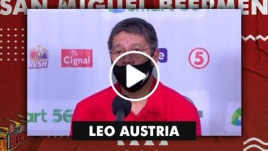 Photo of WATCH: Leo Austria Post-Game interview [San Miguel vs Terra Firma | October 19, 2020]