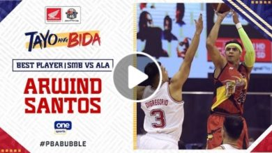 Photo of WATCH: Best Player – Arwind Santos [San Miguel vs Alaska | October 24, 2020]