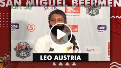 Photo of WATCH: Leo Austria Post-Game interview [San Miguel vs Alaska | October 24, 2020]